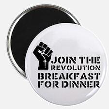 """Revolution Breakfast For Dinner 2.25"""" Magnet (10 p"""