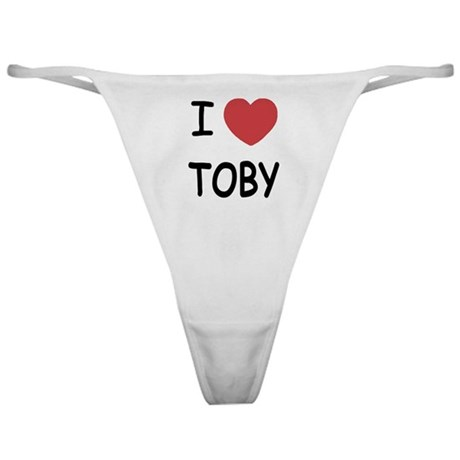 I heart TOBY Classic Thong