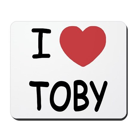 I heart TOBY Mousepad