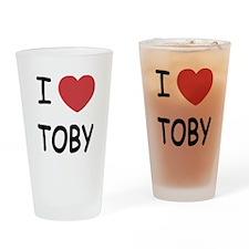 I heart TOBY Drinking Glass