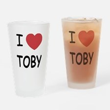 I heart TOBY Drinking Glass