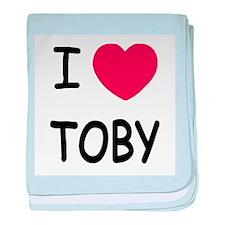 I heart TOBY baby blanket