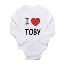 I heart TOBY Long Sleeve Infant Bodysuit