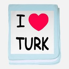 I heart TURK baby blanket