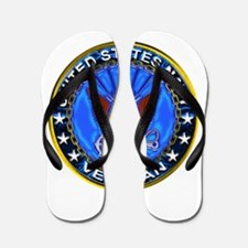 Blue US Navy Veteran Eagle Flip Flops