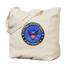 Blue US Navy Veteran Eagle Tote Bag