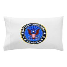 Blue US Navy Veteran Eagle Pillow Case