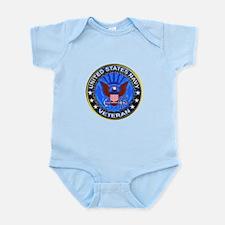 Blue US Navy Veteran Eagle Infant Bodysuit
