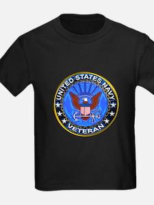 Blue US Navy Veteran Eagle T