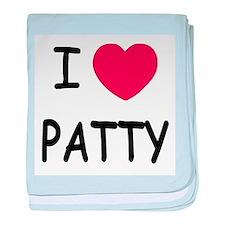 I heart PATTY baby blanket