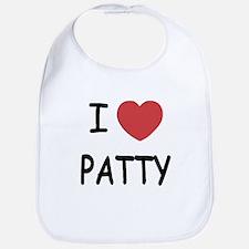 I heart PATTY Bib