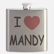 I heart MANDY Flask