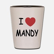 I heart MANDY Shot Glass