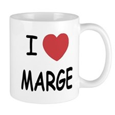 I heart MARGE Small Mugs