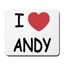 I heart ANDY Mousepad