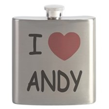 I heart ANDY Flask
