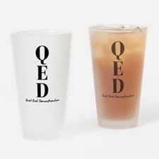 QED Drinking Glass