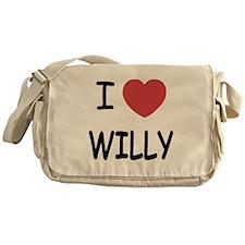 I heart WILLY Messenger Bag