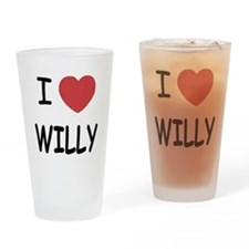 I heart WILLY Drinking Glass