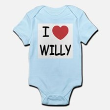 I heart WILLY Infant Bodysuit