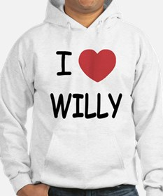 I heart WILLY Hoodie