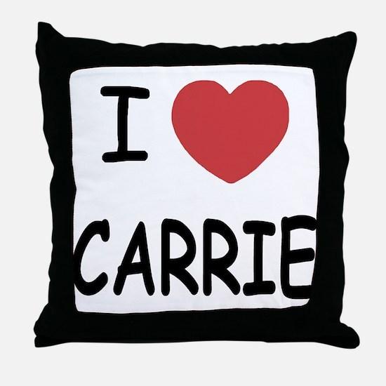 I heart CARRIE Throw Pillow