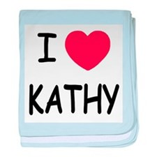 I heart KATHY baby blanket