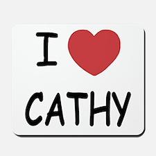 I heart CATHY Mousepad
