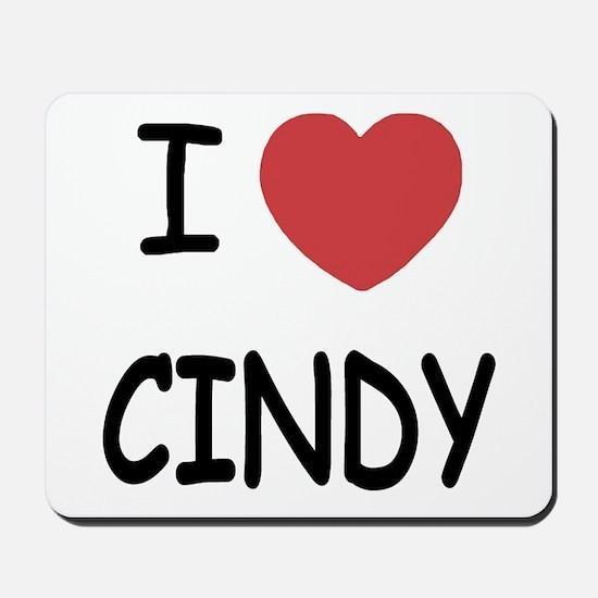 I heart CINDY Mousepad