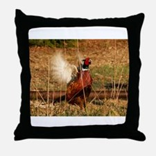 Pissed off Pheasant Throw Pillow