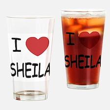 I heart SHEILA Drinking Glass