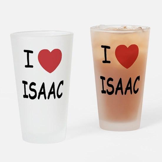 I heart ISAAC Drinking Glass