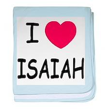 I heart ISAIAH baby blanket