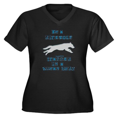 I'm a Dire Wolf Women's Plus Size V-Neck Dark T-Sh