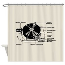 Turntable Diagram Shower Curtain