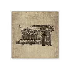 "Vintage Typewriter Square Sticker 3"" x 3"""