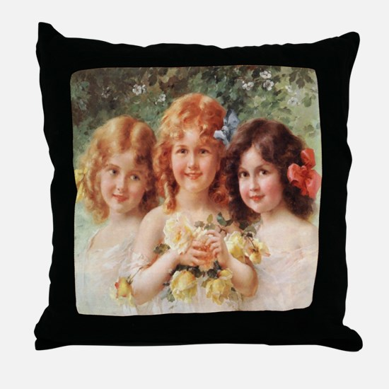 Victorian Angels Throw Pillow