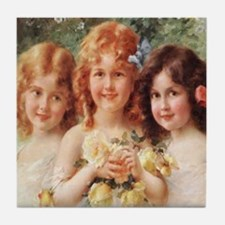 Victorian Angels Tile Coaster