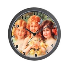 Victorian Angels Wall Clock