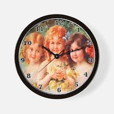 Victorian Angels Wall Clock