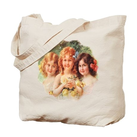 Victorian Angels Tote Bag