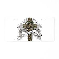 Craig Tartan Cross Aluminum License Plate