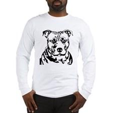 PIT BULL HEAD BLACK Long Sleeve T-Shirt