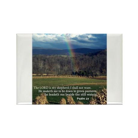 Sunny Day Rainbow Rectangle Magnet