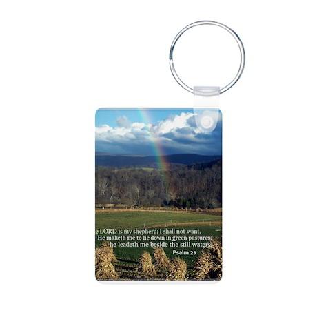 Sunny Day Rainbow Aluminum Photo Keychain