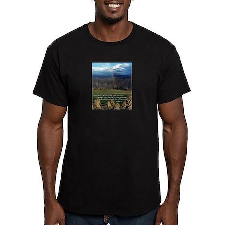 Sunny Day Rainbow Men's Fitted T-Shirt (dark)