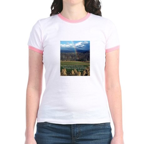 Sunny Day Rainbow Jr. Ringer T-Shirt