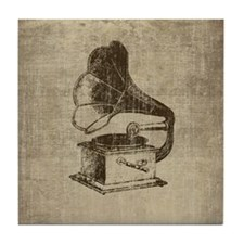 Vintage Phonograph Tile Coaster