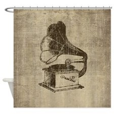 Vintage Phonograph Shower Curtain