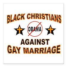 "BLACK CHRISTIANS Square Car Magnet 3"" x 3"""